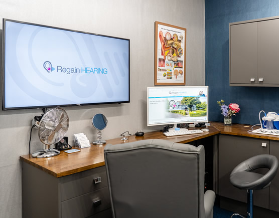 Practice room at Regain Hearing Clinic in Broadstairs