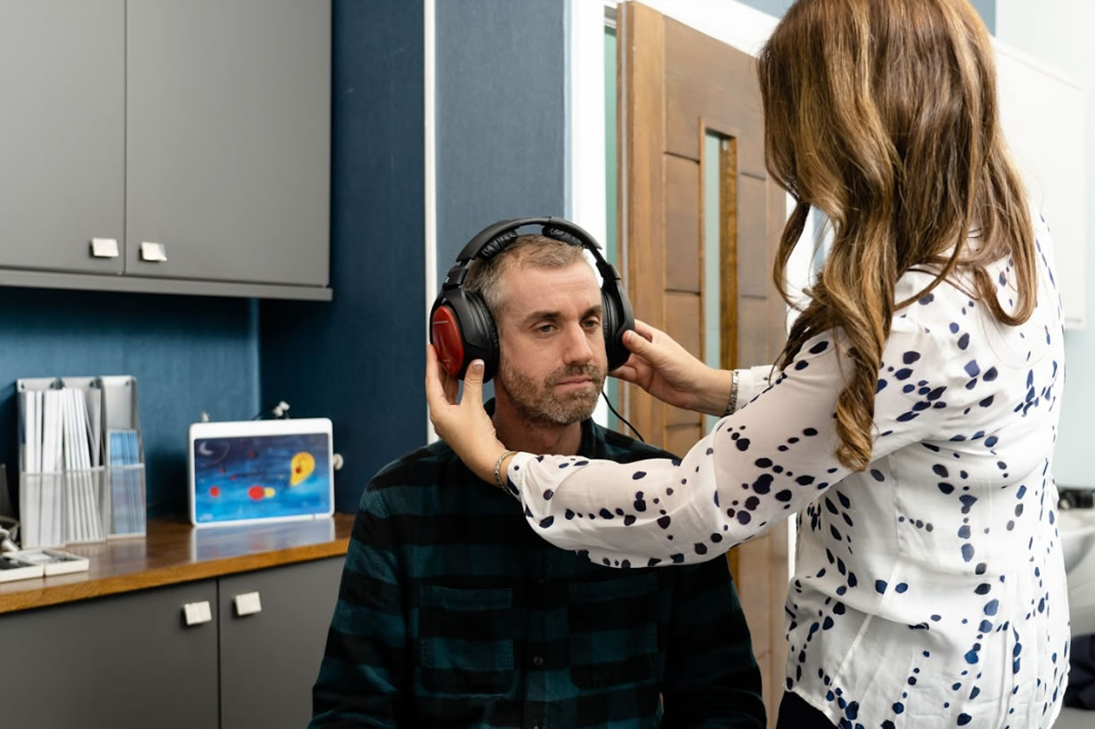 hearing test with Lindsay Fletcher