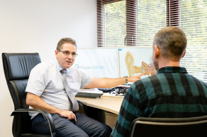 consultation with the audiologist